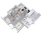 Miniature du plan de vente d'un appartement S+2 de Type B à AZURIA